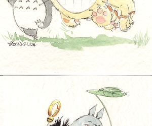 anime, totoro, and illustration image