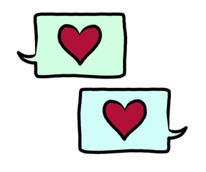 heart, text, and talk image