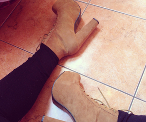 fashion, heels, and in love image