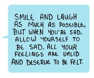 laugh, quotes, and sad image