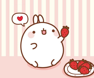 cute, kawaii, and strawberry image