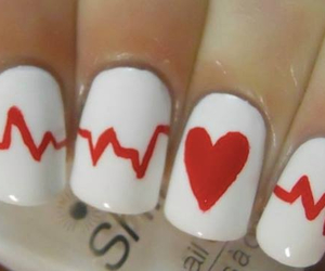 heart, nails, and love image