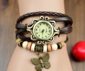 bracelet, timepiece, and butterfly image