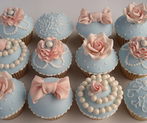 cupcake, bow, and food image