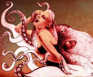guro, octopus, and tentacles image