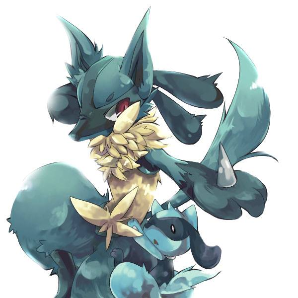 blue, pokemon, and lucario image