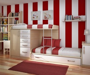 bedroom, red, and room image