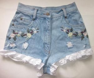 fashion, flowers, and shorts image
