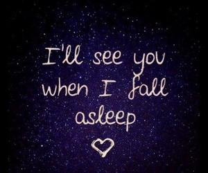love, Dream, and sleep image