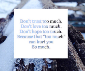 I Love You, quote, and too much image