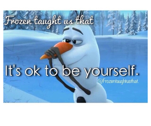 be yourself, frozen, and love it image