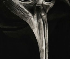 mask, plague doctor, and scp image
