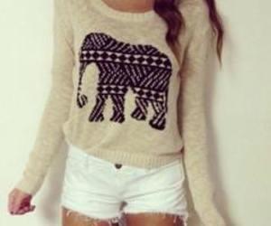 fashion, elephant, and outfit image