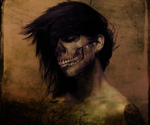 dark art, day of the dead, and skeleton image