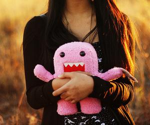girl, domo, and pink image