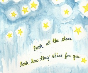 stars, yellow, and quote image