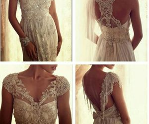 beautiful, bride, and clothes image