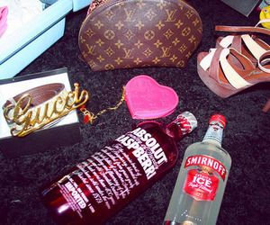 gucci, smirnoff, and Louis Vuitton image
