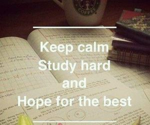 books, luck, and exams image