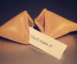 quote, cookie, and food image
