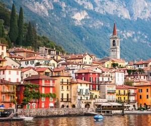 italy, boat, and landscape image