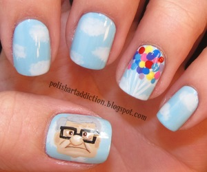 nails, up, and nail art image