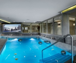 chalet and pool image