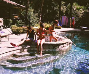 friendship, girls, and pool image