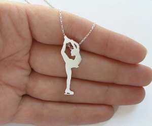 Winter Olympics, figure skater necklace, and ice skater necklace image