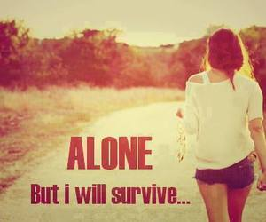 alone, survive, and quote image