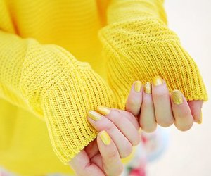 yellow, fashion, and nails image