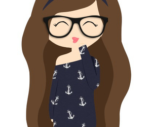 drawing, hipster, and glasses image