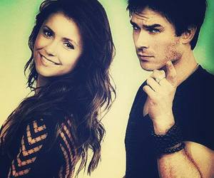Nina Dobrev, ian somerhalder, and damon salvatore image