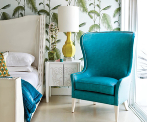turquoise, bed, and bedroom image