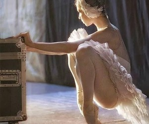 ballerina, point shoes, and swan lake image