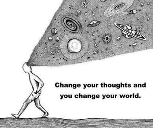 thoughts, world, and change image