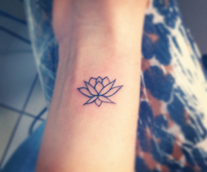 lotus, tattoo, and first tattoo image