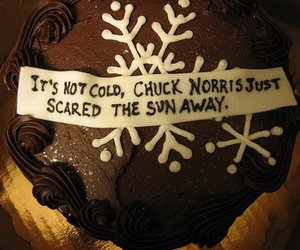 cake, funny, and chuck norris image