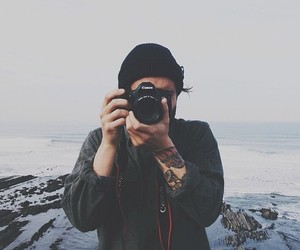 boy, photography, and tattoo image