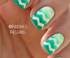 nails, green, and chevron image