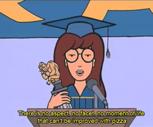 Daria, pizza, and funny image