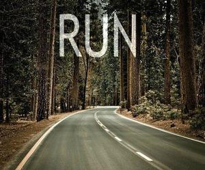 run and forest image