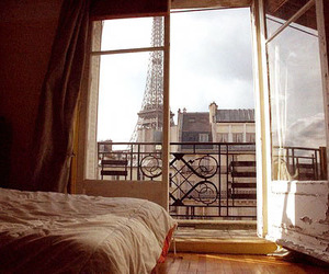 bed, bedroom, and france image