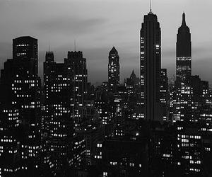 city, light, and black image