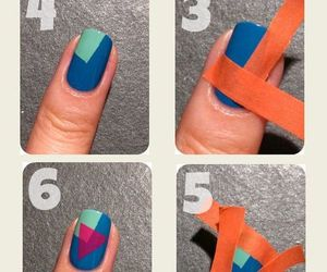 nails, tutorial, and blue image