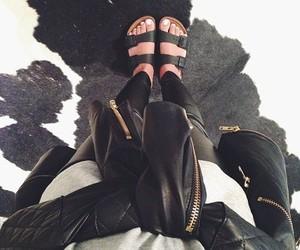 fashion, black, and leather image