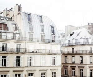 building, paris, and white image