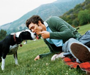 adam brody, dog, and boy image