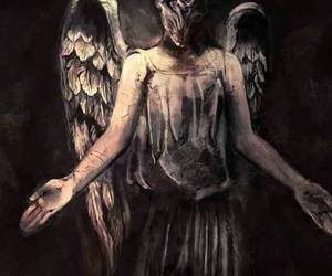 doctor who, weeping angel, and the silence image