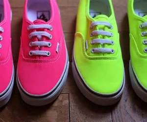 vans, fluo, and yellow image